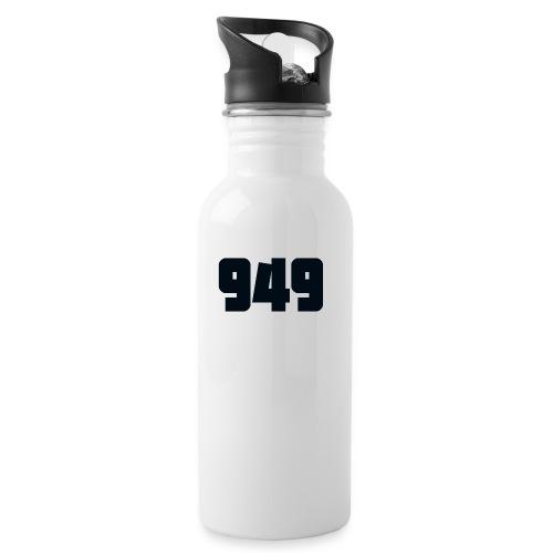 949black - Trinkflasche mit integriertem Trinkhalm