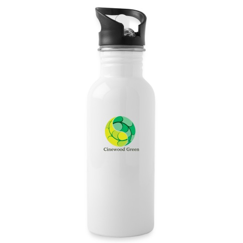 Cinewood Green - Water bottle with straw