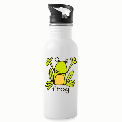 frog - Bang on the Door - Water bottle with straw