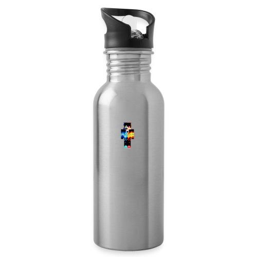 Cooler Skin - Trinkflasche mit integriertem Trinkhalm