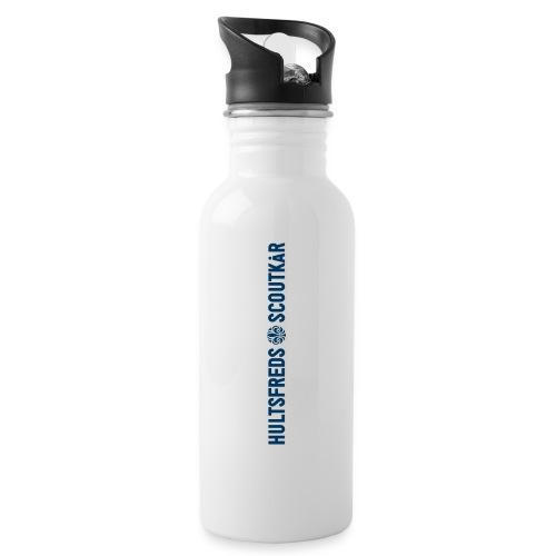 Hultsfreds Scoutkår - Vattenflaska med integrerat sugrör