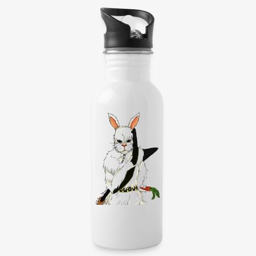 The white Rabbit - Drikkeflaske med integrert sugerør