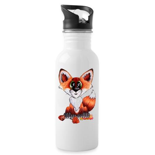 llwynogyn - a little red fox - Juomapullo, jossa pilli