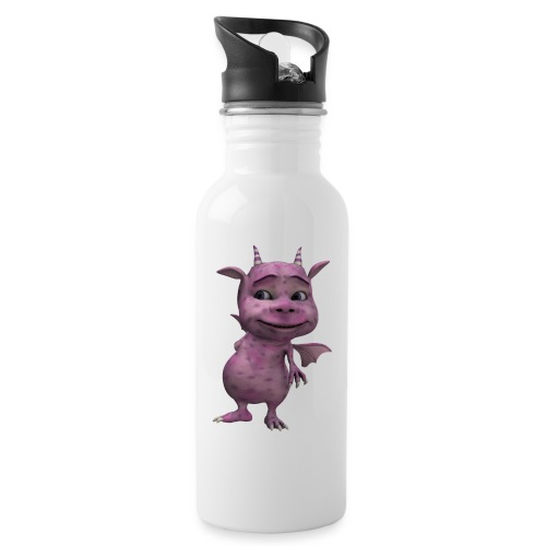 gnome dragon - Water bottle with straw