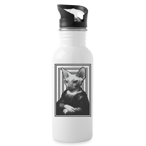 CAT LISA - Botella cantimplora con pajita integrada