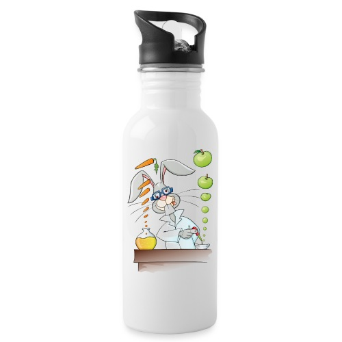 Versuchskaninchen - Trinkflasche mit integriertem Trinkhalm
