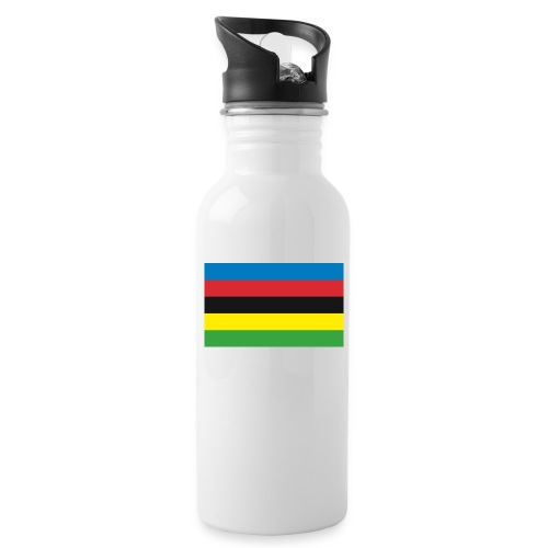 Cycling_World_Champion_Rainbow_Stripes-png - Drinkfles met geïntegreerd rietje