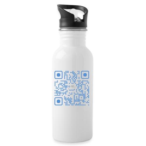 QR Maidsafe.net - Water bottle with straw