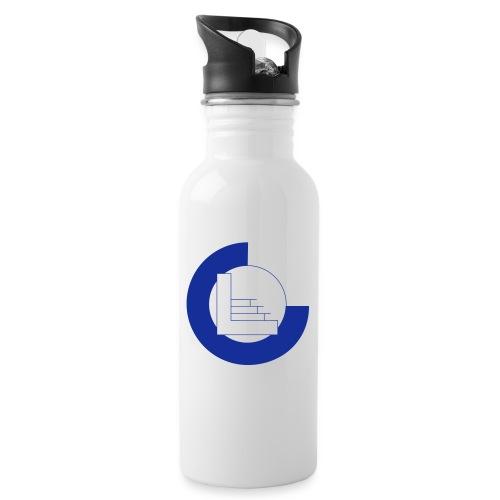 CvL Logo - Drinkfles met geïntegreerd rietje