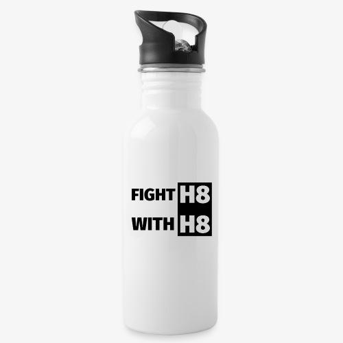FIGHTH8 dark - Water bottle with straw