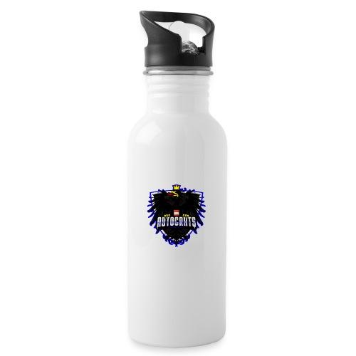 AUTocrats blue - Trinkflasche mit integriertem Trinkhalm