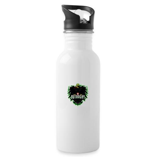 AUTarchy green - Trinkflasche mit integriertem Trinkhalm