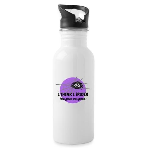 I think I spider! - Trinkflasche mit integriertem Trinkhalm