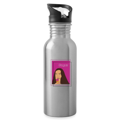 SUGAR - Botella cantimplora con pajita integrada