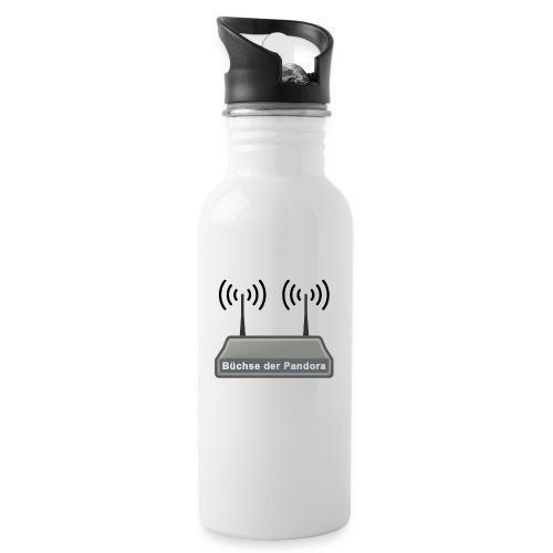 Büchse der Pandora - Trinkflasche mit integriertem Trinkhalm