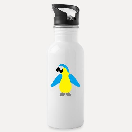 Gelbbrustara - Water bottle with straw