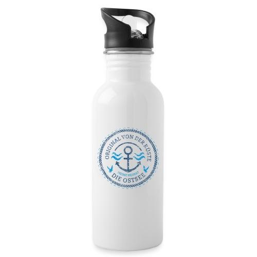 Ich bin ein Original von der Ostsee - Trinkflasche mit integriertem Trinkhalm