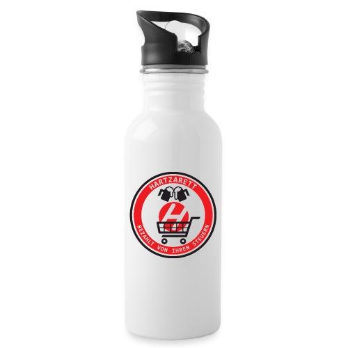 Hartzarett - Trinkflasche mit integriertem Trinkhalm
