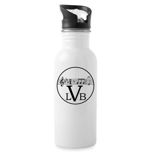 Beethoven Logo 02 - Trinkflasche mit integriertem Trinkhalm