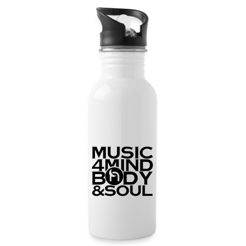 Music 4 Mind, Body & Soul Black - Water bottle with straw
