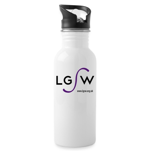 LGSW_large_white - Water bottle with straw