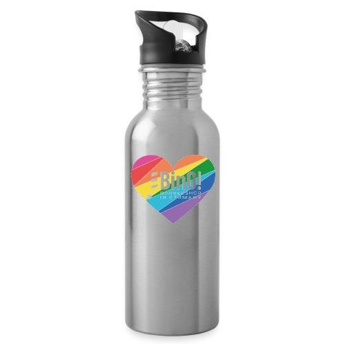 BinG Love Color - Trinkflasche mit integriertem Trinkhalm
