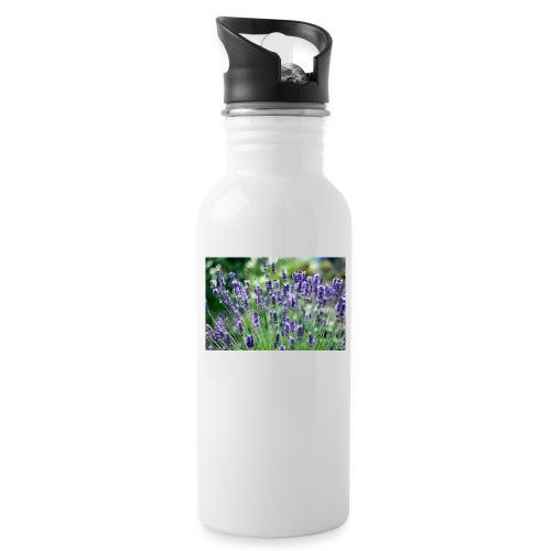 Lavendler - Drikkeflaske med integreret sugerør