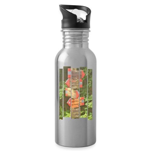 De verwarde hike - Drinkfles met geïntegreerd rietje