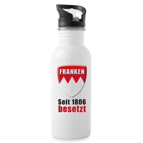 Franken - Seit 1806 besetzt! - Trinkflasche mit integriertem Trinkhalm