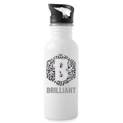 B brilliant grey - Drinkfles met geïntegreerd rietje