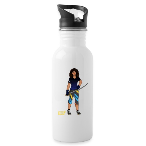 Sabre fencer - Water bottle with straw