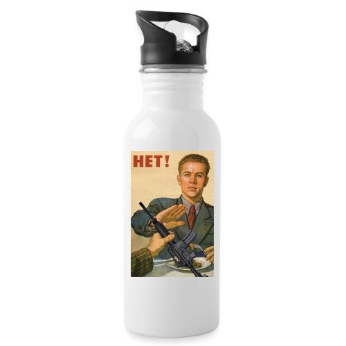 Njet M4 - Trinkflasche mit integriertem Trinkhalm