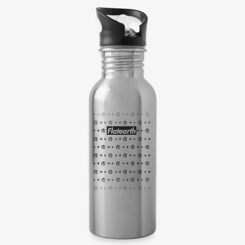 Flat Earth Pattern - Water bottle with straw