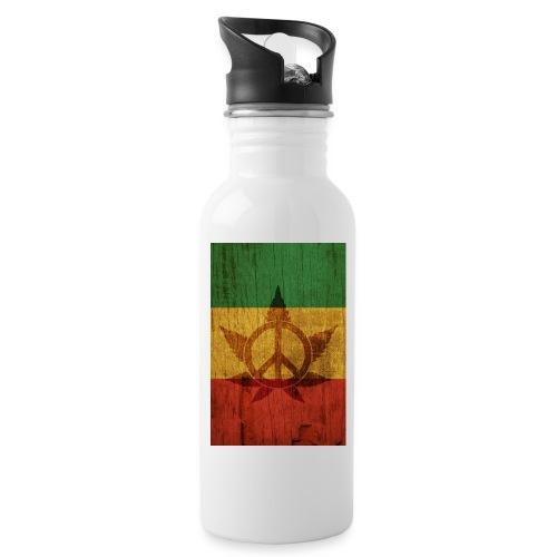 Peace Poster - Trinkflasche mit integriertem Trinkhalm