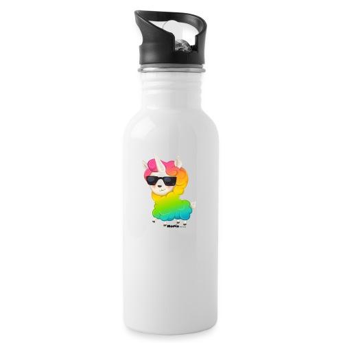 Rainbow animo - Drikkeflaske med integrert sugerør