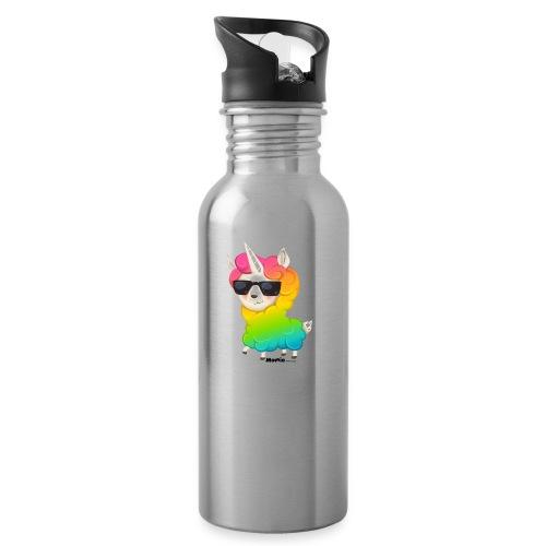 Rainbow animo - Juomapullo, jossa pilli