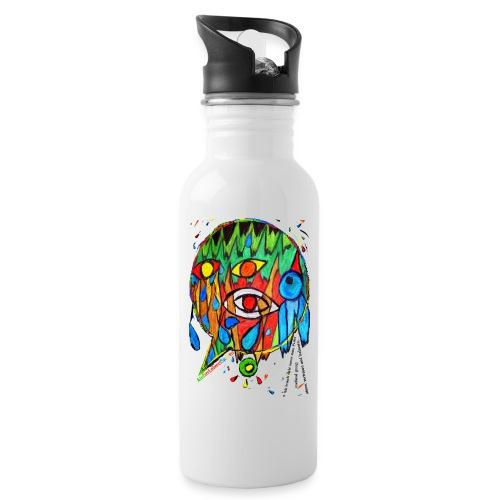 Vertrauen - Trinkflasche mit integriertem Trinkhalm