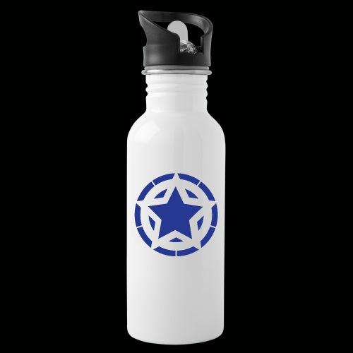 Stern Logo - Trinkflasche mit integriertem Trinkhalm