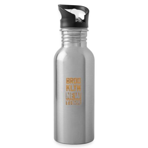 Brooklyn New York - Trinkflasche mit integriertem Trinkhalm