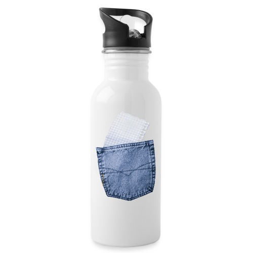 Jeans Baggy by #OneCreativeArts - Trinkflasche mit integriertem Trinkhalm