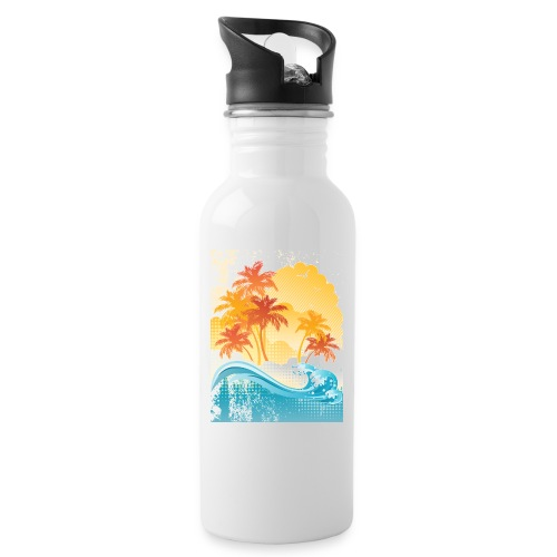 Palm Beach - Water bottle with straw