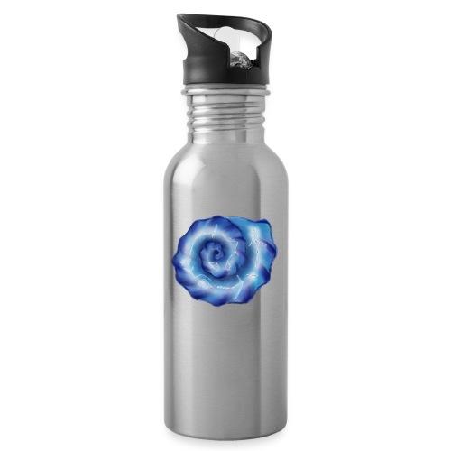 Galaktische Spiralenmuschel! - Trinkflasche mit integriertem Trinkhalm
