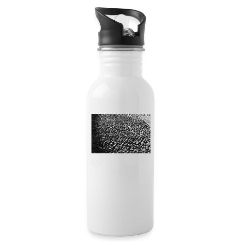 cobblestone shirt - Drinkfles met geïntegreerd rietje