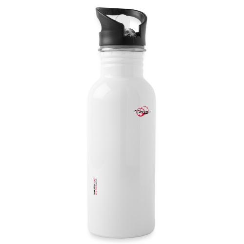 logoallein6 - Trinkflasche mit integriertem Trinkhalm