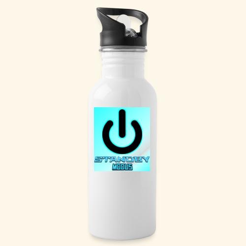 Mauspad Blau - Trinkflasche mit integriertem Trinkhalm