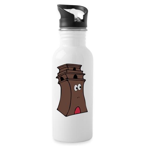 bismarck - Trinkflasche mit integriertem Trinkhalm