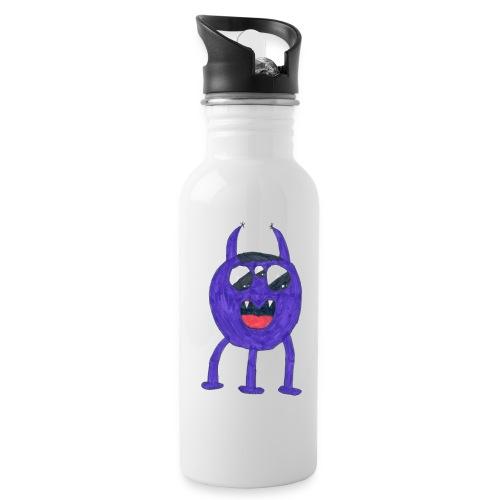 Monster - Vattenflaska med integrerat sugrör