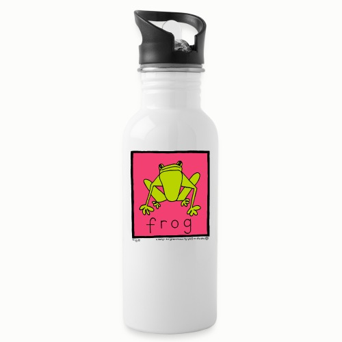 frog 90's Bang On The Door - Water bottle with straw