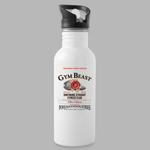 GYM BEAST - Trinkflasche mit integriertem Trinkhalm