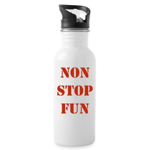 non stop fun - Trinkflasche mit integriertem Trinkhalm